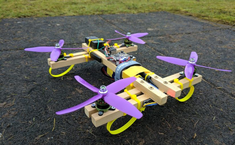 Wooden Dowel Quadcopter Drone
